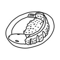 ícone pecel lele. doodle desenhado à mão ou estilo de ícone de contorno vetor