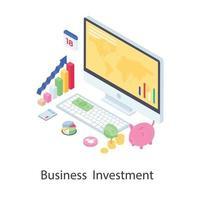 investimento empresarial e capitalização vetor