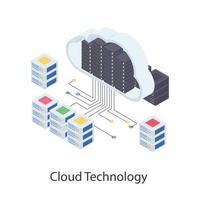 conceitos de tecnologia em nuvem vetor
