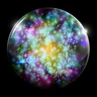 Esfera brilhante de vidro de vetor