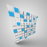 Vetorial, ilustração, de, cubos 3d