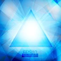 Triângulos abstratos azuis vetor