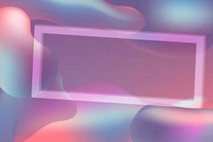fluido gradiente com moldura quadrada de forma geométrica vetor