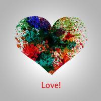 Coração vetor pintado
