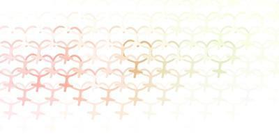 fundo vector rosa claro, verde com símbolos de mulher.