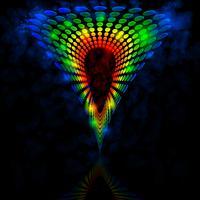Triângulo colorido, vetor
