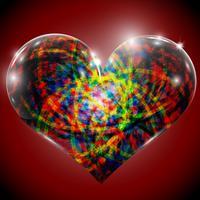 Coração do círculo abstrato
