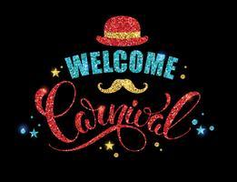 Carnaval brilhante design de letras.
