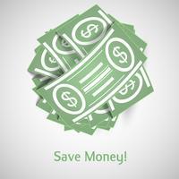 Dinheiro de ilustração vetorial vetor