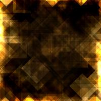 Fundo de vetor de quadrados de ouro