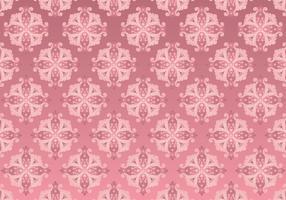 Fundo de padrão rococó de ouro rosa