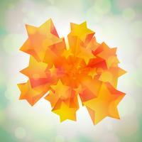Estrelas chegando em 3D vetor