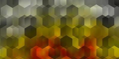 modelo de vetor laranja claro em estilo hexagonal.