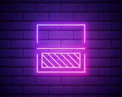 ícone de procces de varredura de linha de néon brilhante isolado no fundo da parede de tijolo. digitalização. símbolo de verificação de segurança. sinal de segurança cibernética. ilustração vetorial vetor