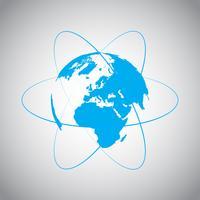 Internet e símbolo de vetor do mundo