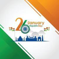 ilustração em vetor dia 26 de janeiro da república indiana