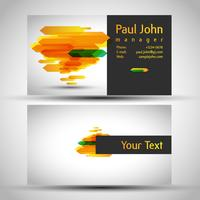 Design de cartão de visita colorido e elegante com frente e verso, vetor
