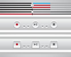 Player de vídeo para web, ilustração vetorial