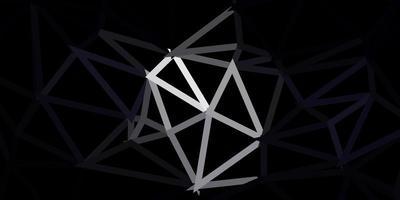 padrão de triângulo abstrato de vetor cinza escuro.