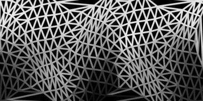 pano de fundo do mosaico do triângulo do vetor cinza claro.