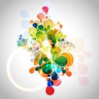 Fundo colorido abstrato vetor