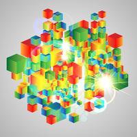 Fundo cubo abstrato vetor