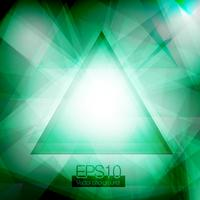 Triângulos abstratos verdes vetor