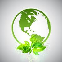 Mundo ecológico verde vetor