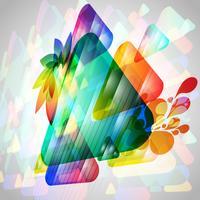 Triângulos coloridos em 3D vetor
