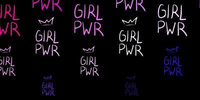 fundo vector roxo, rosa escuro com símbolos de mulher.