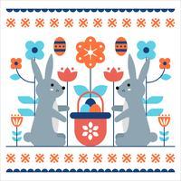 Páscoa Wallpaper Design Vector