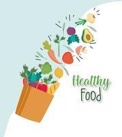 mercearia de comida saudável vetor