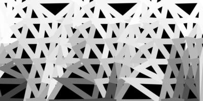 modelo de mosaico de triângulo de vetor cinza claro.
