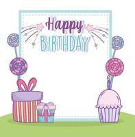 pôster de feliz aniversário vetor