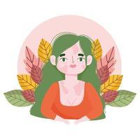 retrato de desenho animado de mulher perfeitamente imperfeito vitiligo vetor