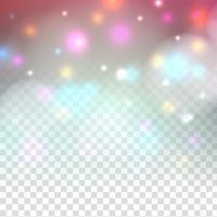 Abstrato colorido design de brilho cintilante em fundo transparente vetor