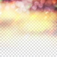 Abstrato design de bokeh brilho cintilante em fundo transparente vetor