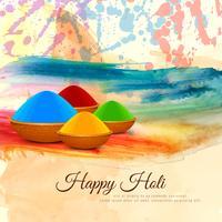 Resumo feliz Holi religiosa festival colorido fundo vetor
