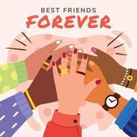 cartão de melhor amigo para sempre vetor