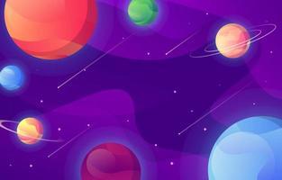 fundo gradiente de galáxia vetor