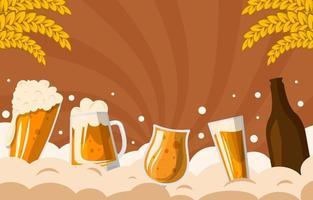 celebração do fundo da cerveja vetor