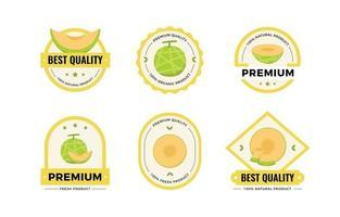 coleção de emblemas de frutas melão vetor