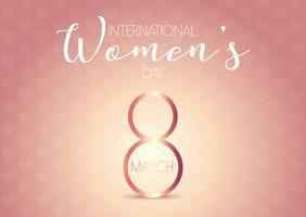 Fundo do dia internacional da mulher vetor
