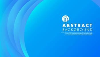 fundo azul suave abstrato do vetor com elemento de círculo sobreposição de papel de camada para texto e mensagem de design de arte. ilustração vetorial
