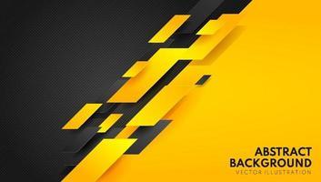 abstrato amarelo laranja e preto contraste background.tech futurista design corporativo. ilustração geométrica para brochuras, folhetos, design gráfico da web. vetor