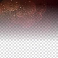 Design elegante brilhante abstrato em fundo transparente vetor