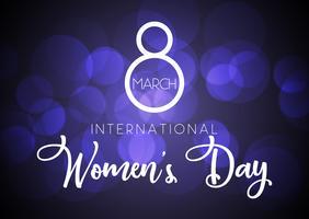 Fundo Internacional do Dia da Mulher vetor