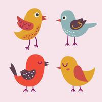 Clipart dos desenhos animados do pássaro vetor