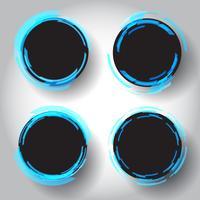 Bordas circulares do techno vetor