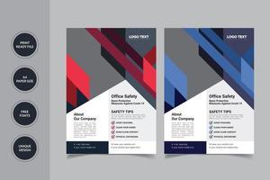 trabalho online modelo de design de panfleto vetor